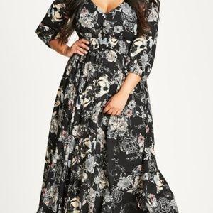 City Chic | NWT Lush Floral Maxi Dress
